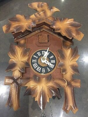 Vintage antique black forest cuckoo clock