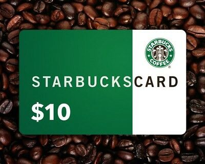 Starbucks Gift Card, $10 Starbucks Gift Card, $10 Starbucks eCode (CAD currency)