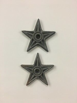 2 Cast Iron Metal Architectural Masonry Stars Lone Star Washers Texas 4 1/4""