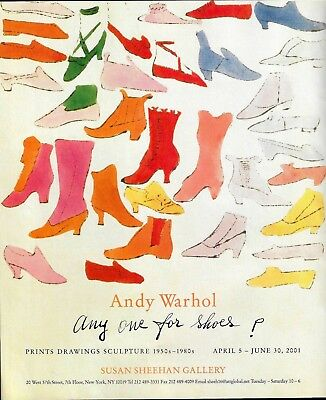 Andy Warhol Any One For Shoes Art Gallery Exhibit Print Ad-2001
