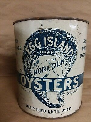 Vintage Oyster Tin Can