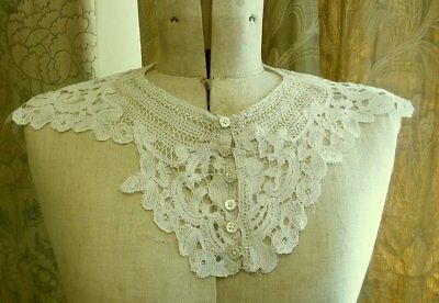 Antique Handmade Duchesse Brussels Lace Collar