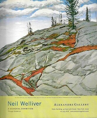 Neil Welliver Blueberries in Fissures Art Gallery Memorial Exhibition Print Ad-2