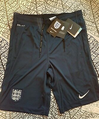 Men's Nike England navy / green dri fit training Shorts Football Soccer size S
