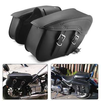 Motorcycle Saddle Bags PU Leather Luggage Bags