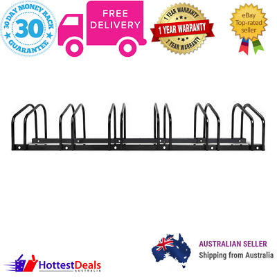 Portable Bike Parking Rack 1-6 Bikes Instant Storage Stand Bicycle Cycling Black