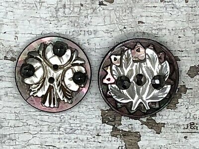Antique hand carved mother of pearl buttons