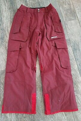 Armada Mega Rex Red snowboard Pants Size Small waterproof Aurora relaxed fit
