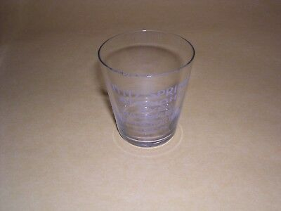 John C Horting Lititz Springs Rye Whiskey Shot Glass