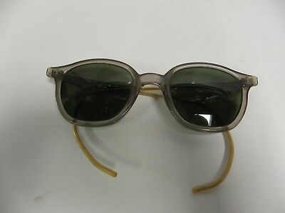 Vintage Steampunk Bausch & Lomb Horn Rimmed B & L Tinted Safety Glasses (A15)