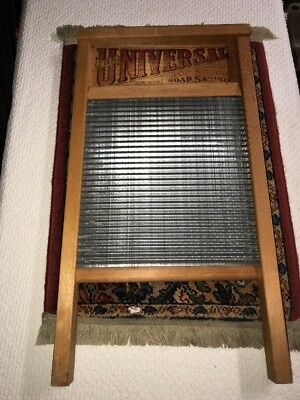 Antique Vintage Washboard Universal National 134 Large Washboard Great Cond.