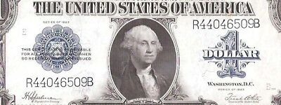 Beautiful Silver Certificate Horseblanket 1923 $1 Large Currency Note Fr 237