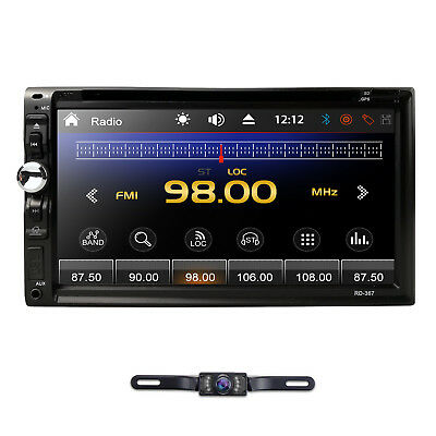 "6.95"" Double 2Din Car Stereo DVD CD Player Touch Screen Radio HD Sony Lens W/Cam"