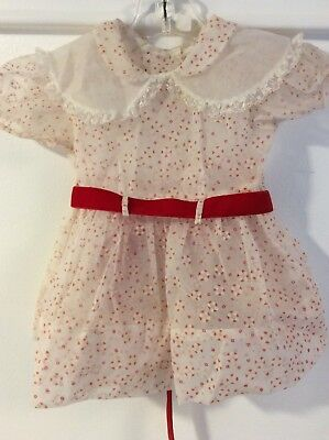 Vintage Flocked Sheer Party Dress Abstract Pattern Baby Toddler
