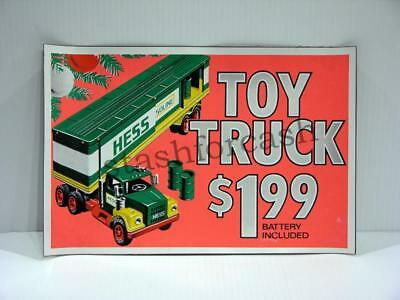 1975 Hess Truck Magnetic Pump Sign - Rare Collectible