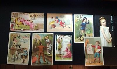 Antique Victorian Trade Card Lot of 8 190? Advertising