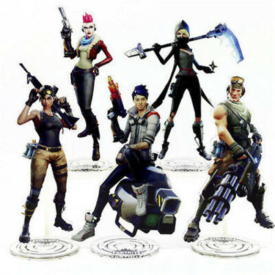 Game Fortnite Save The World  Battle Royale Standing Figure Acrylic Toys Gift