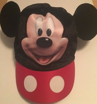 Disney Parks Mickey Mouse Baseball Cap with Mouse Ears Youth