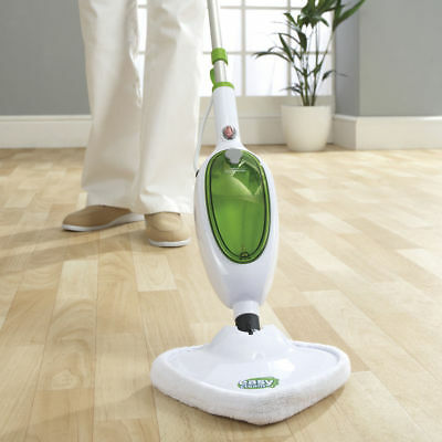 Steam Mop Cleaner Handheld Carpet Floor Washer 1300W Multi Easy Steam Green New