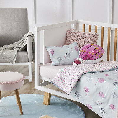 Adairs Kids Up Up & Away Cot Quilt Cover Set BNIB RRP $99.99