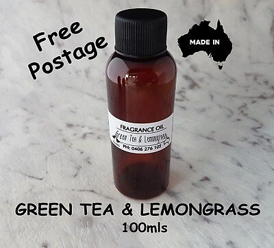 "Top Quality ""green Tea And Lemongrass"" Fragrance Oil-100Mls - Candles, Melts"