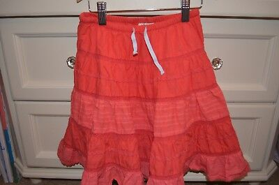 Mini Boden Coral Colored Cotton Twirly Skirt Size 5-6