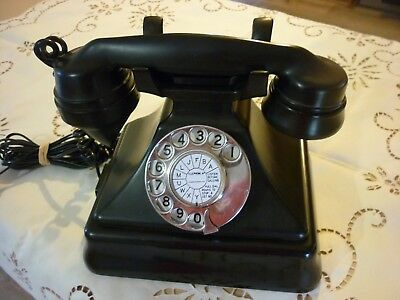 Vintage Retro Black Bakelite Pyramid Phone - Exc Condition Fully Operational