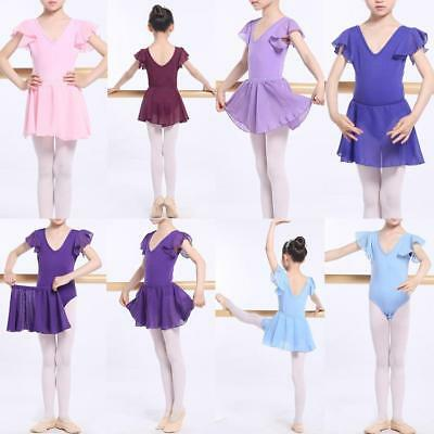 AU SELLER Child Adult 2 Pcs Set Dance Ballet Cotton Leotard Chiffon Skirt da028
