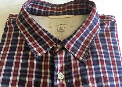 COUNTRY ROAD Blue/Red/White Check, Long Sleeve Shirt -XXL- Exc Con