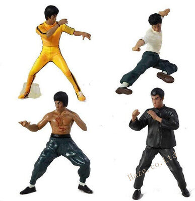 Bruce Lee action figures Dragon Maîtriser Kung Fu Ensemble 4PCS Chaud Jouets Éch