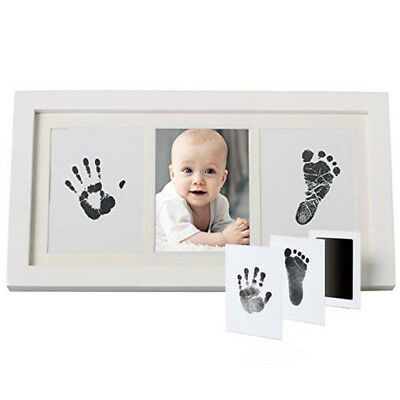 Baby Hand&Foot INKLESS Print Cast Kit&2 Photo Picture Frame Christening Gift QU