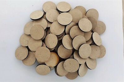 MDF Wooden Circle Shapes 32mm Diameter 3mm Thick Custom Cut x 100 pieces