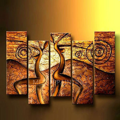 ZWPT303  5pcs hand-painted modern abstract wall decor art oil painting canvas