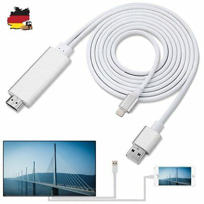 para iPhone X 8 7 6 iPad iPod Lightning a HDMI Cable HDTV TV Adaptador de AV
