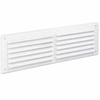 WHITE LOUVRE AIR VENT Single Brick Wall Door Ventilation Duct Grille Cover 4548D