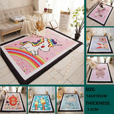 195x145CM Large Big Soft Rectangle Baby Kids Toddler Crawling Play Mat Floor Rug