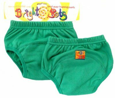 Bright Bots Potty Training Pants Twin Pack, Green, Medium, 18 - 24 months