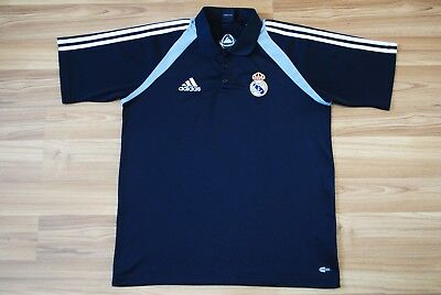 d495bfb6339 Real Madrid Fan Polo Shirt Jersey 2004 Adidas Size Mens Medium Black Color  Adult