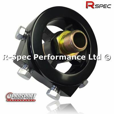 Black Sandwich Plate Adaptor Oil Temp / Pressure Gauge Sensor For Subaru Impreza