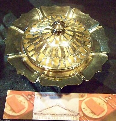 Classic Dublin Style Silver Footed Bowl Floral Arrangement Centerpiece With Frog
