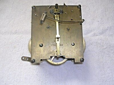 Clock  Parts ,  Brass  Clock Movement, Spares Or  Repair