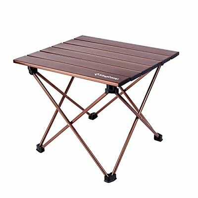 KingCamp Ultra Lightweight Portable Aluminum Folding Roll Up Table for Picnic Ca