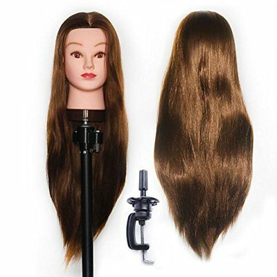 Training Head Hairdressing 100 Synthetic Hair Mannequin Styling Dolls Head With