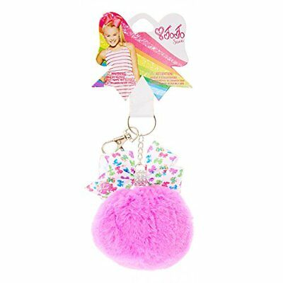 JoJo Siwa Purple Pom Pom with Bow Print Bow Keychain