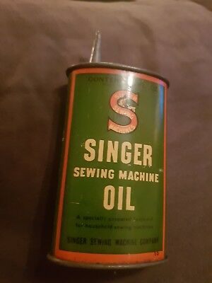 Vintage Singer Sewing Machine Sewing Oil Can 3 Fluid Oz (empty) + Free shipping