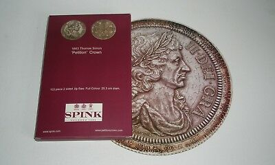Coin Jigsaw Puzzle Charles II Petition Crown 103 Pieces,... Double Sided