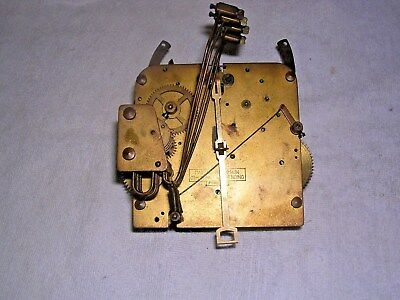 Clock  Parts ,  Brass  Clock Movement, Spares Or  Repair 1