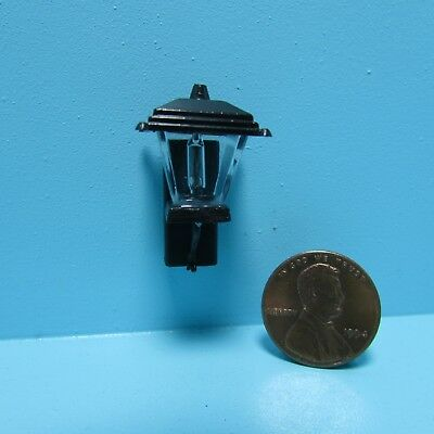 Dollhouse Miniature Non-Working Coach Porch Light in Black with Bulb ~ MH628NW