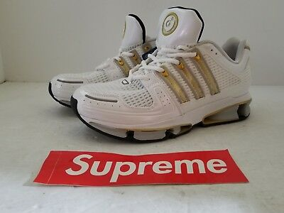 sports shoes 42ebd 7232f Adidas Originals A3 Twinstrike Running Shoes White Gold Silver BA7234 Size  9.5
