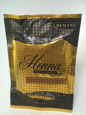 Hemani Natural Henna Black With Bakhoor 150 gram Henna Powder
